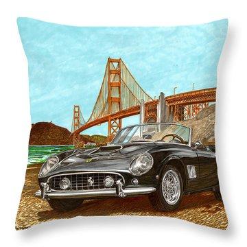 1960 Ferrari 250 California G T Throw Pillow by Jack Pumphrey