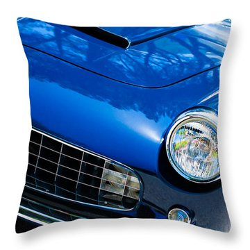 1960 Ferrari 250 Gtf Pinin Farina Cabriolet Series II Grille Emblem Throw Pillow by Jill Reger