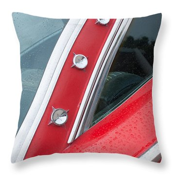1960 Ford Galaxie Starliner Throw Pillow by Jill Reger