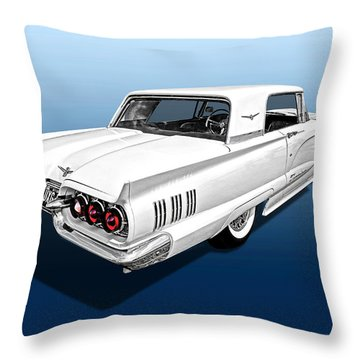 1960 Ford Thunderbird Throw Pillow