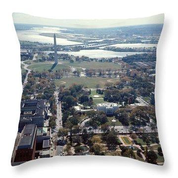 1960s Aerial View Washington Monument Throw Pillow