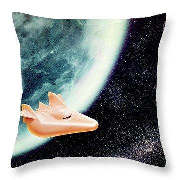 1960s Illustration Of M-2 Wingless Throw Pillow