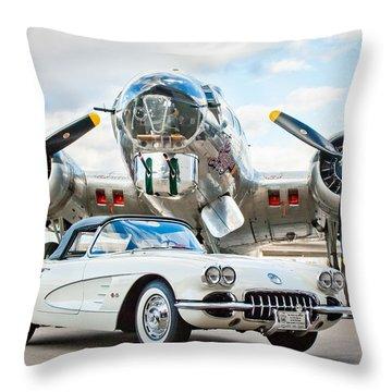 1961 Chevrolet Corvette Throw Pillow by Jill Reger