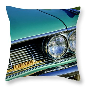 1961 Pontiac Bonneville Grille Emblem Throw Pillow by Jill Reger