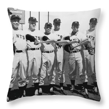 1961 San Francisco Giants Throw Pillow