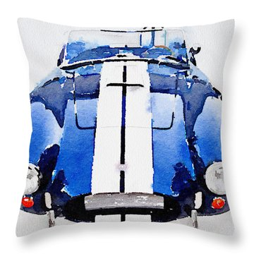 1962 Ac Cobra Shelby Watercolor Throw Pillow by Naxart Studio