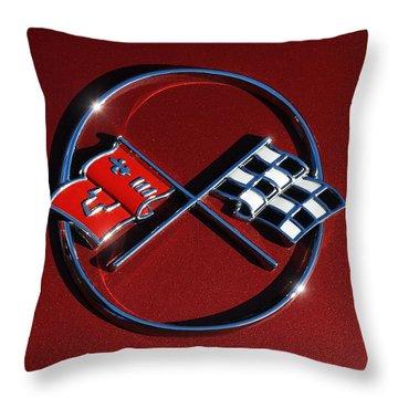 1962 Chevy Corvette Emblem Throw Pillow