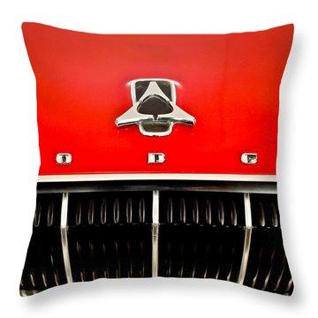 1962 Dodge Polara 500 Emblem Throw Pillow by Jill Reger