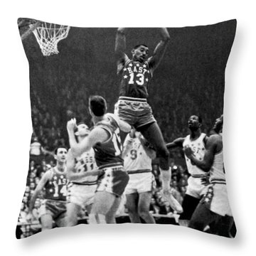 1962 Nba All-star Game Throw Pillow