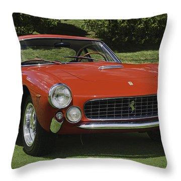 1963 Ferrari 250 Gt Lusso Throw Pillow by Sebastian Musial