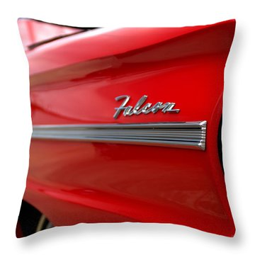 1963 Ford Falcon Name Plate Throw Pillow by Brian Harig