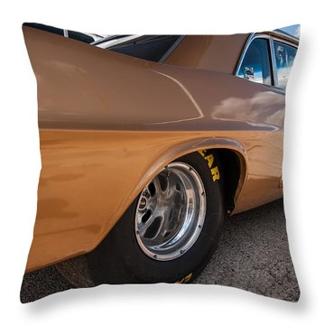 1963 Pontiac Lemans Race Car Throw Pillow