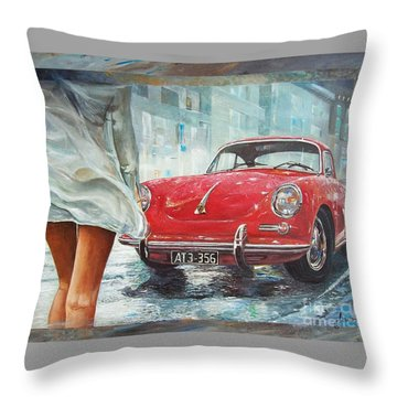 1963 Porsche 356 C Throw Pillow