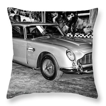 1964 Aston Martin Db5 Throw Pillow