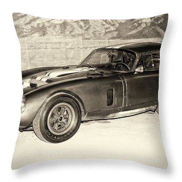 1964 Cobra Daytona Coupe Throw Pillow