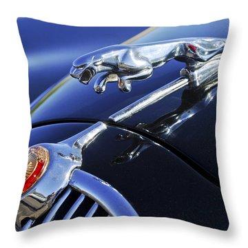 1964 Jaguar Mk2 Saloon Throw Pillow by Jill Reger