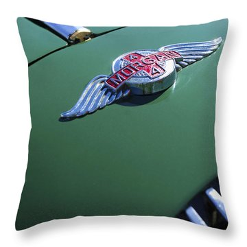 1964 Morgan 44 Hood Ornament Throw Pillow by Jill Reger