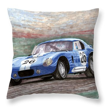 1964 Shelby Daytona Throw Pillow by Jack Pumphrey