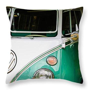 1964 Volkswagen Vw Samba 21 Window Bus Throw Pillow