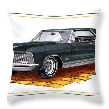 Buick Riviera Custom Throw Pillow by Jack Pumphrey