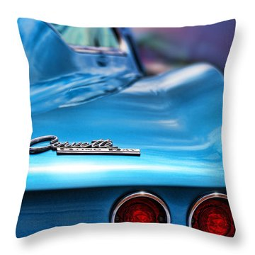 1965 Chevrolet Corvette Stingray Throw Pillow