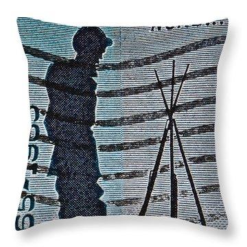 1965 Civil War Centennial Stamp Throw Pillow