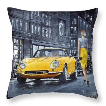 1965 Ferrari 275 Gtb Throw Pillow