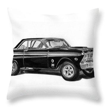 1965 Ford Falcon Street Rod Throw Pillow by Jack Pumphrey