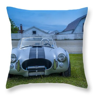 1965 Ford Shelby Cobra American Roadster Throw Pillow by Ken Morris