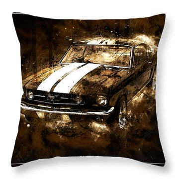 1965 Ford Shelby Mustang Gto-350 #5 Throw Pillow