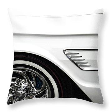 1965 Ford Thunderbird Throw Pillow by Carol Leigh
