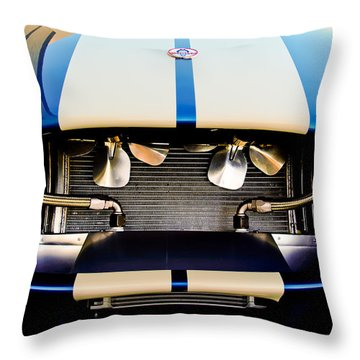 Throw Pillow featuring the photograph 1965 Shelby Cobra Grille by Jill Reger