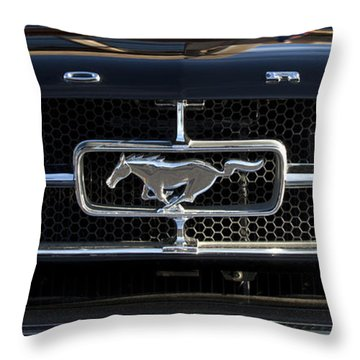 1965 Shelby Prototype Ford Mustang Hood Ornament Throw Pillow by Jill Reger