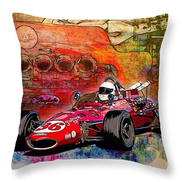 1966 9 Eagle Indy Throw Pillow