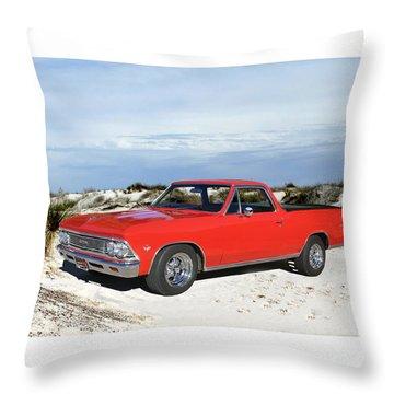 1966 Chevrolet El Camino 327 Throw Pillow by Jack Pumphrey