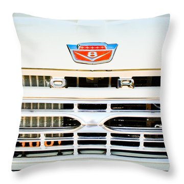 1966 Ford F100 Pickup Truck Grille Emblem Throw Pillow