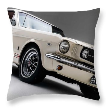 Throw Pillow featuring the photograph 1966 Mustang Gt by Gianfranco Weiss