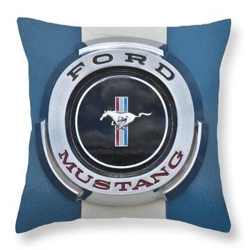 1966 Shelby Gt 350 Emblem Gas Cap Throw Pillow