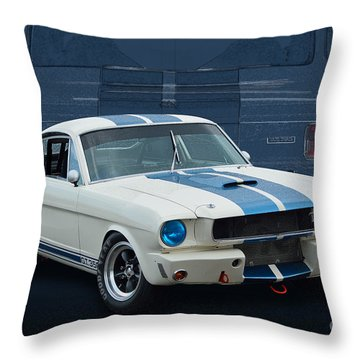1966 Shelby Gt350 Throw Pillow
