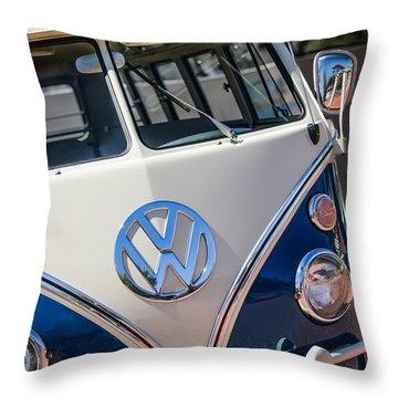 1966 Volkswagen Micro Bus -1012c Throw Pillow