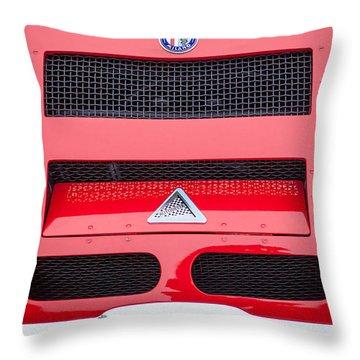 1967 Alfa Romeo Tz2 Zagato Coupe Hood Ornament Throw Pillow by Jill Reger