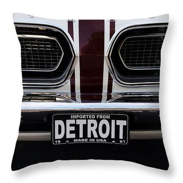 1967 Barracuda Throw Pillow by Dennis Hedberg