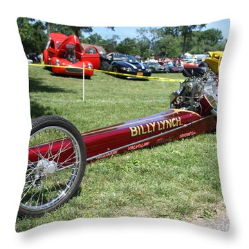 1967 Billy Lynch's Top Fuel Dragster Throw Pillow