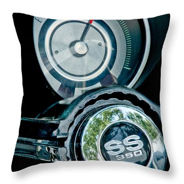 1967 Chevrolet Camaro  Ss Steering Wheel Emblem Emblem Throw Pillow by Jill Reger