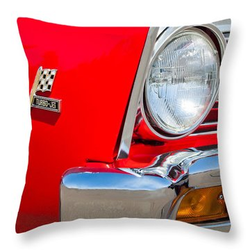 1967 Chevrolet Chevelle Ss Emblem Throw Pillow by Jill Reger