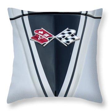 1967 Chevrolet Corvette Coupe Hood Emblem Throw Pillow