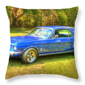 Throw Pillow featuring the photograph 1967 Ford Mustang by Donald Williams