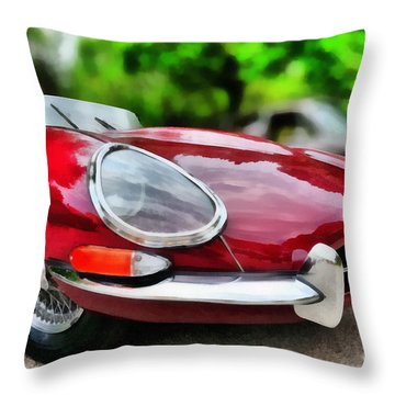 1967 Jaguar E Type Throw Pillow