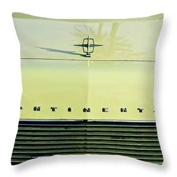1967 Lincoln Continental Grille Emblem - Hood Ornament Throw Pillow