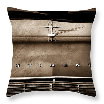 1967 Lincoln Continental Hood Ornament - Emblem Throw Pillow